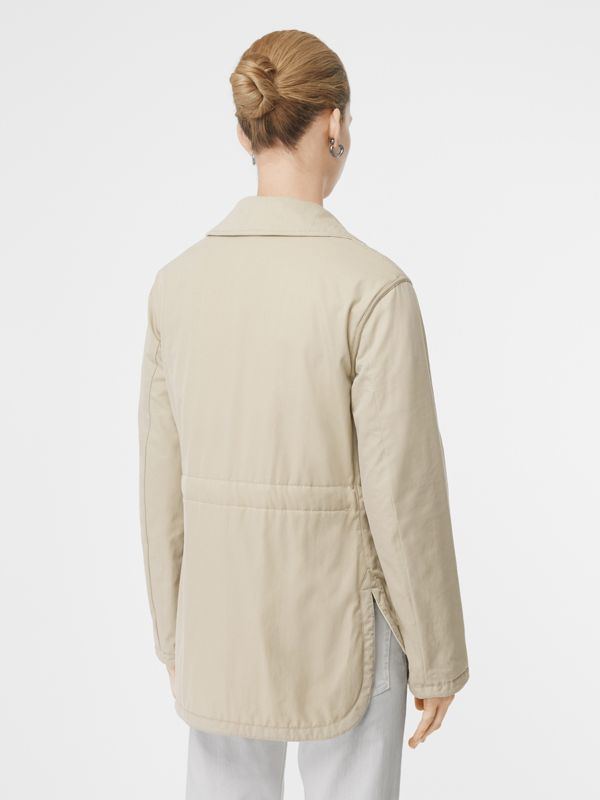Reversible Quilted Cotton Jacket in Natural White - Women | Burberry United Kingdom - cell image 2
