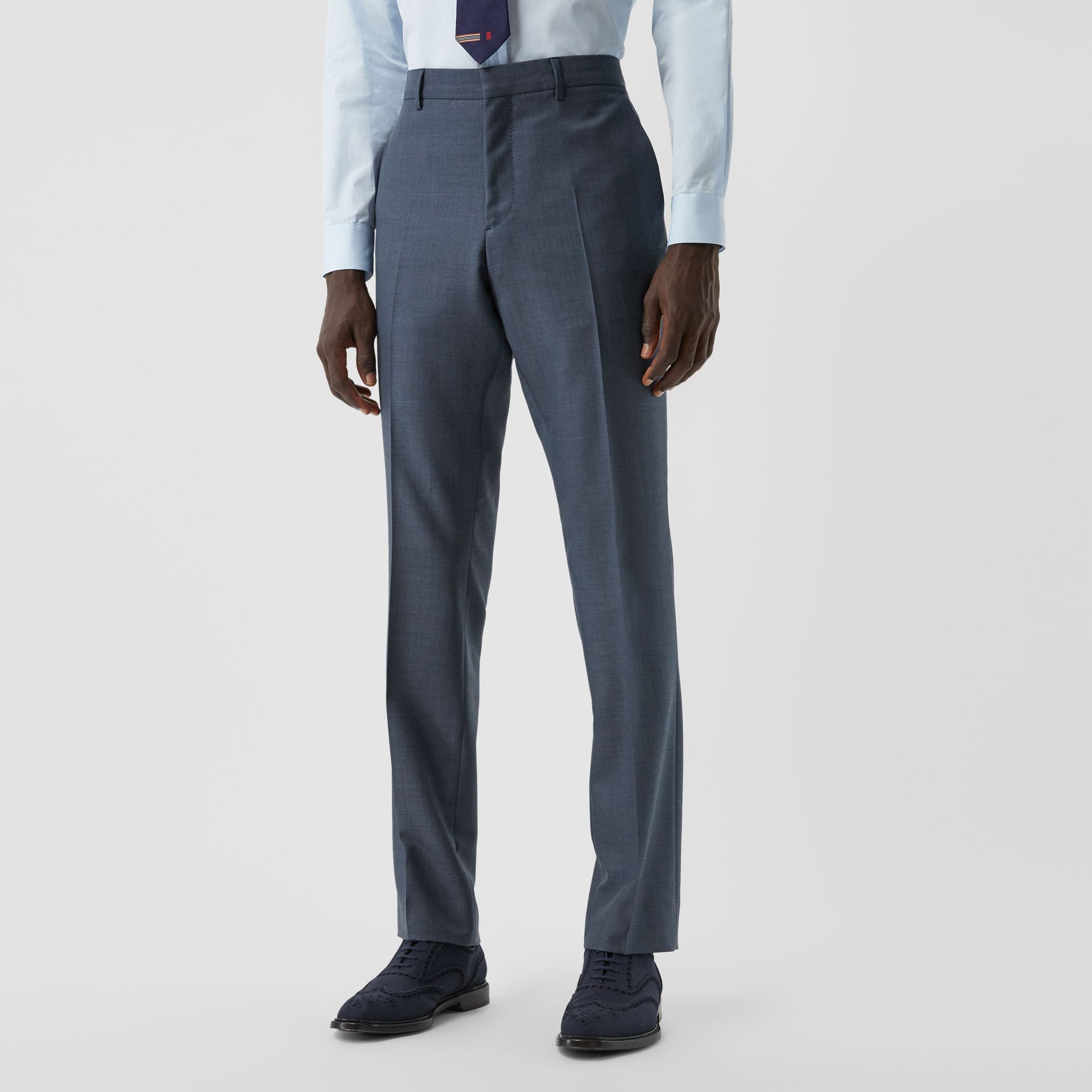 Classic Fit Wool Mohair Blend Three-piece Suit in Steel Blue - Men   Burberry United States - gallery image 5