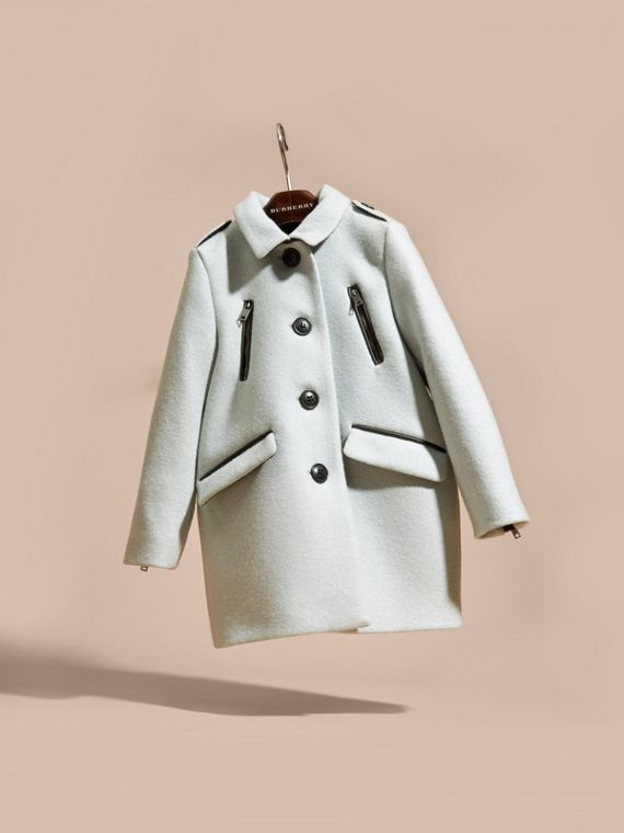 Zip Detail Wool Coat in Pale Eucalyptus - cell image 2