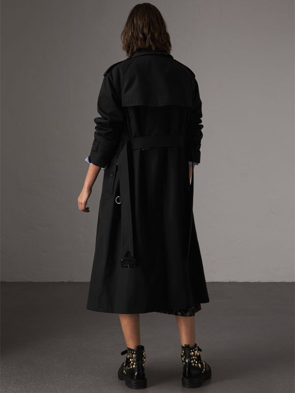 The Westminster – Extra-long Trench Coat in Black - Women   Burberry United States - cell image 2