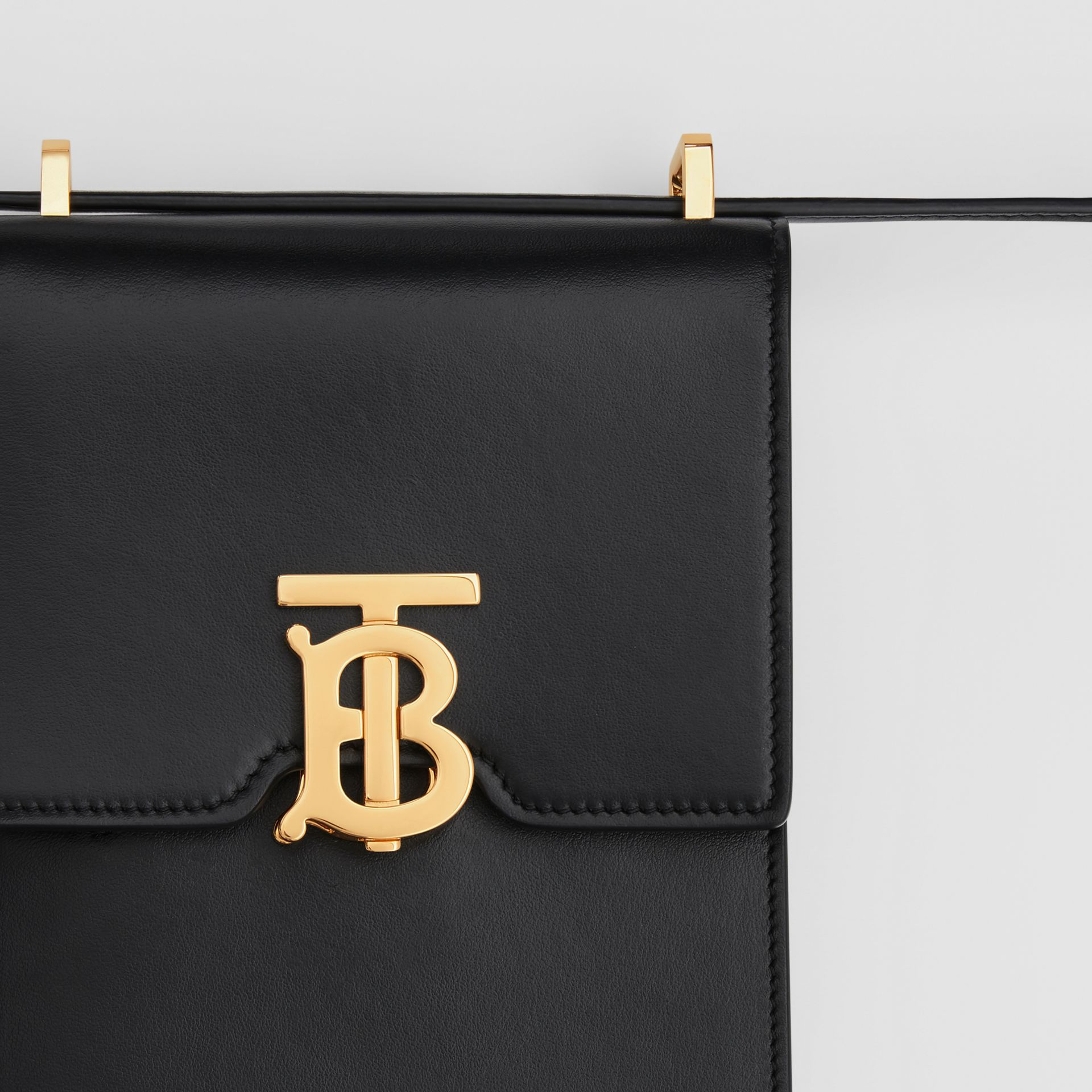 Leather Robin Bag in Black | Burberry Australia - gallery image 8