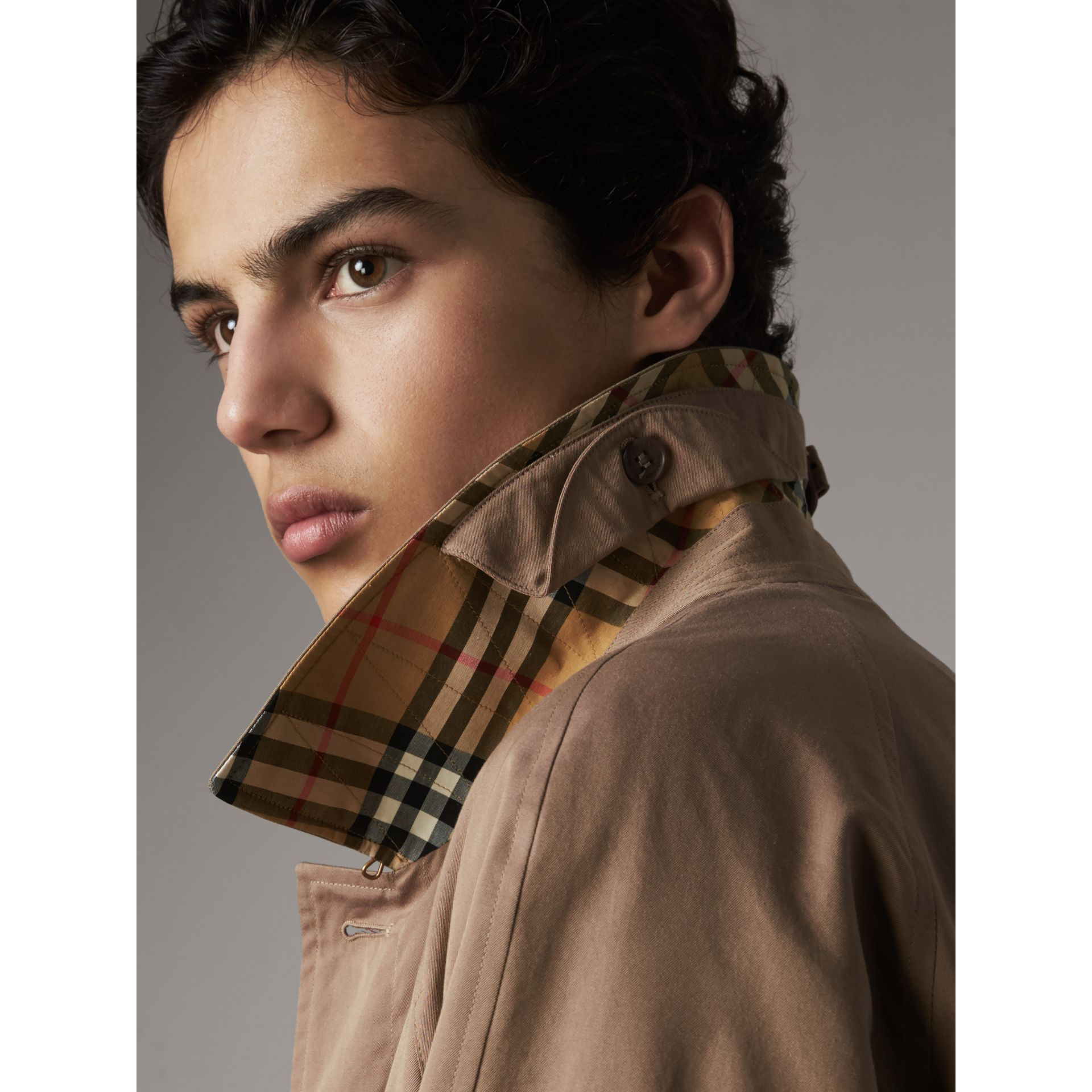 The Brighton Car Coat in Taupe Brown - Men | Burberry - gallery image 5