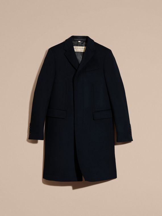 Wool Cashmere Tailored Coat Navy - cell image 3