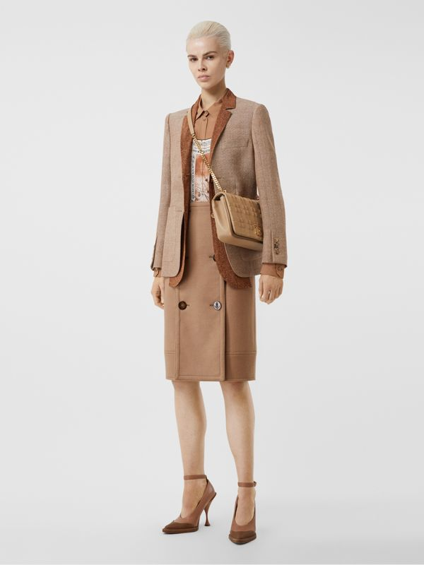 Medium Quilted Lambskin Lola Bag in Camel - Women | Burberry United Kingdom - cell image 3