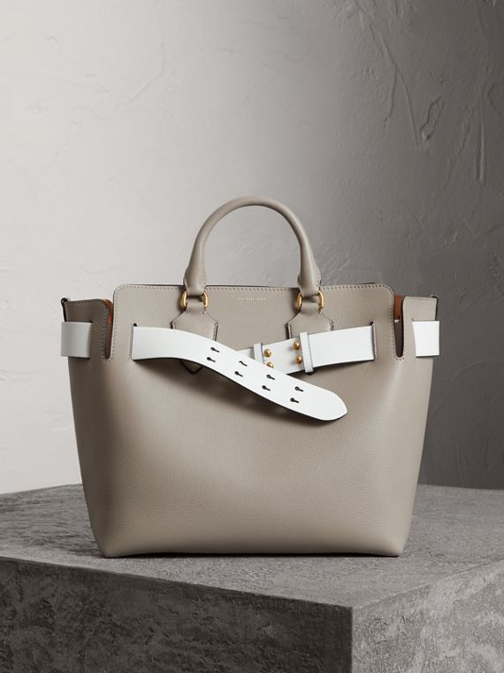 The Medium Leather Belt Bag in Mineral Grey