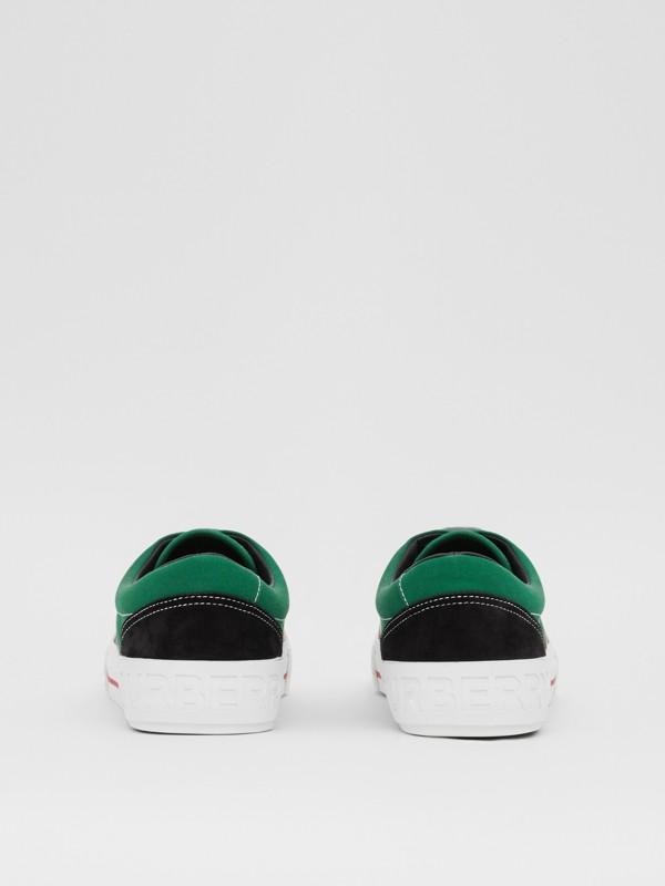Sneakers en tissu Vintage check, toile de coton et cuir velours (Beige D'archive/vert) - Homme | Burberry - cell image 3