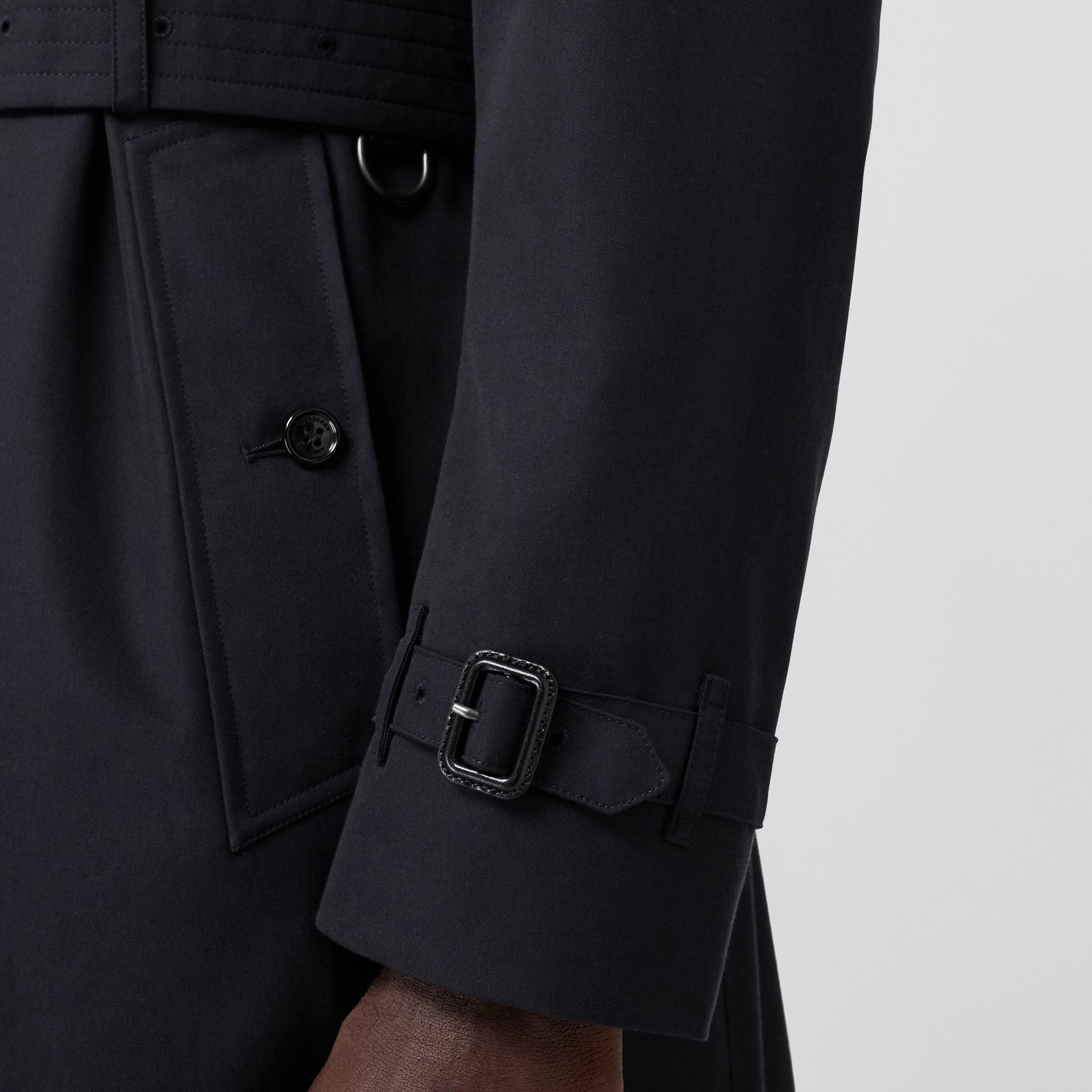 Cotton Gabardine Trench Coat in Midnight - Men | Burberry - gallery image 5