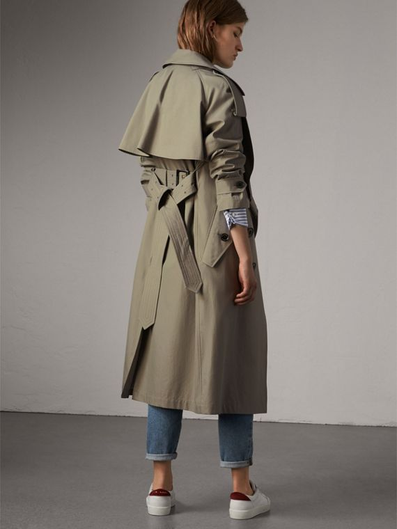 Tropical Gabardine Trench Coat in Slate Green - Women | Burberry - cell image 2
