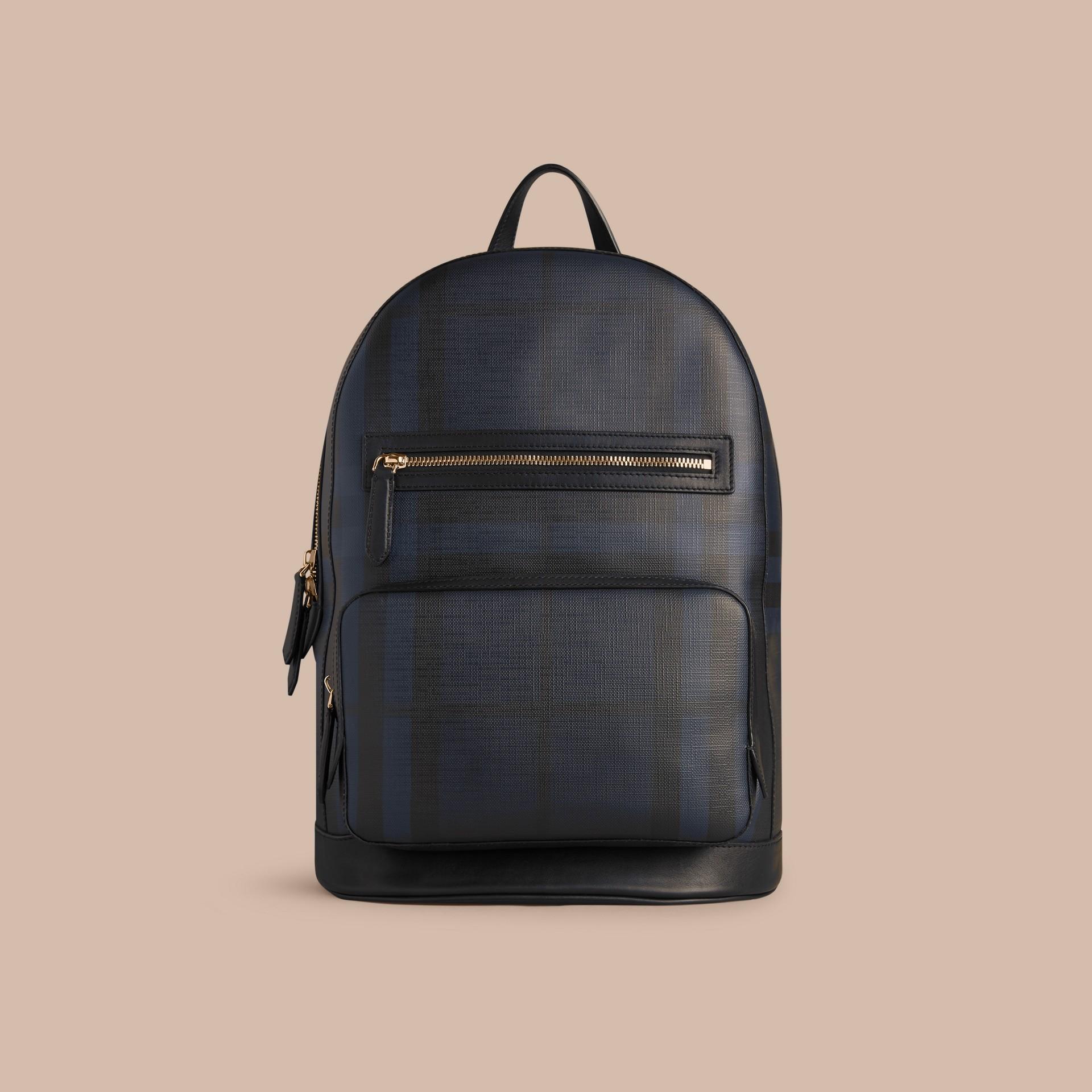 Navy/black London Check Backpack Navy/black - gallery image 7