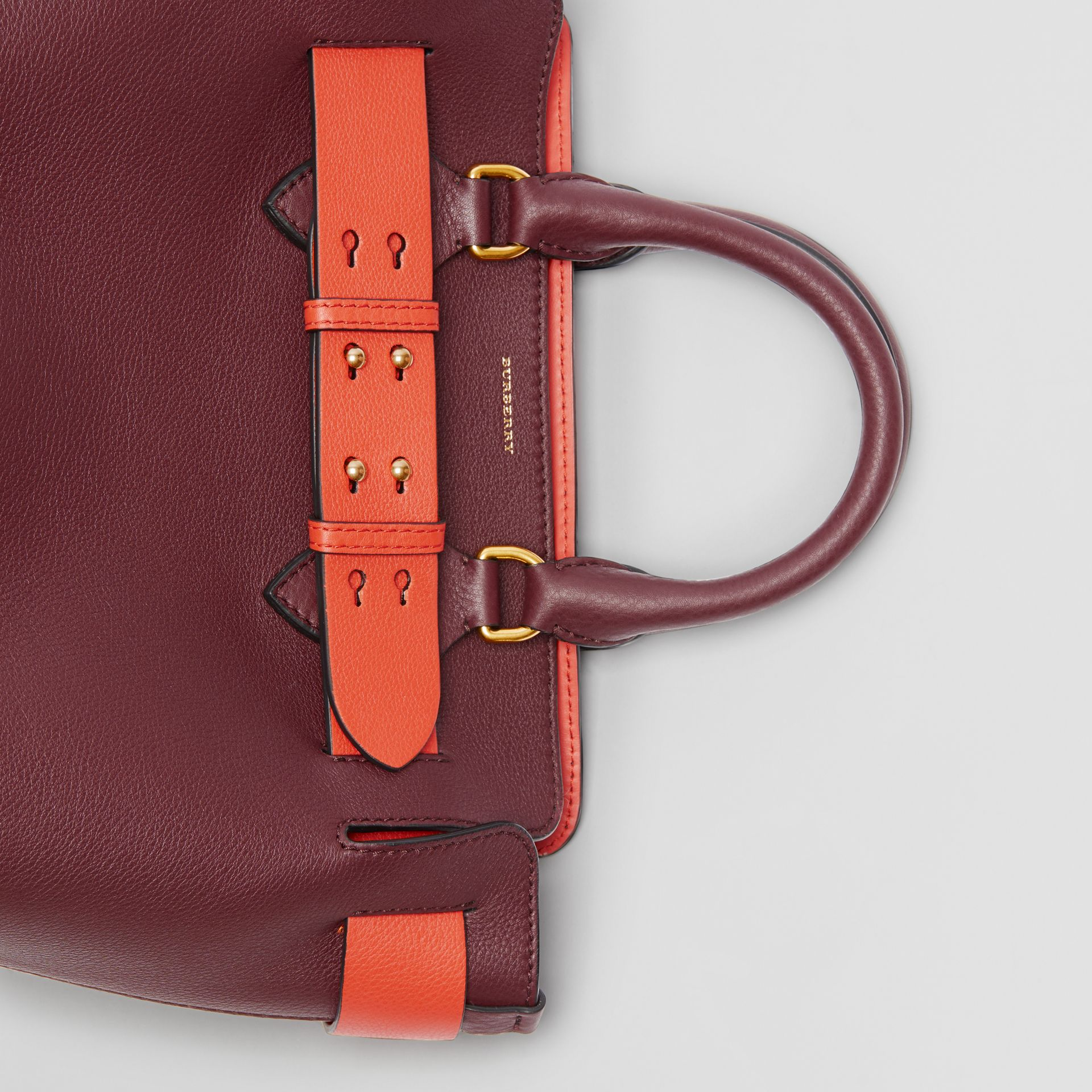 The Small Leather Belt Bag in Deep Claret - Women | Burberry - gallery image 6