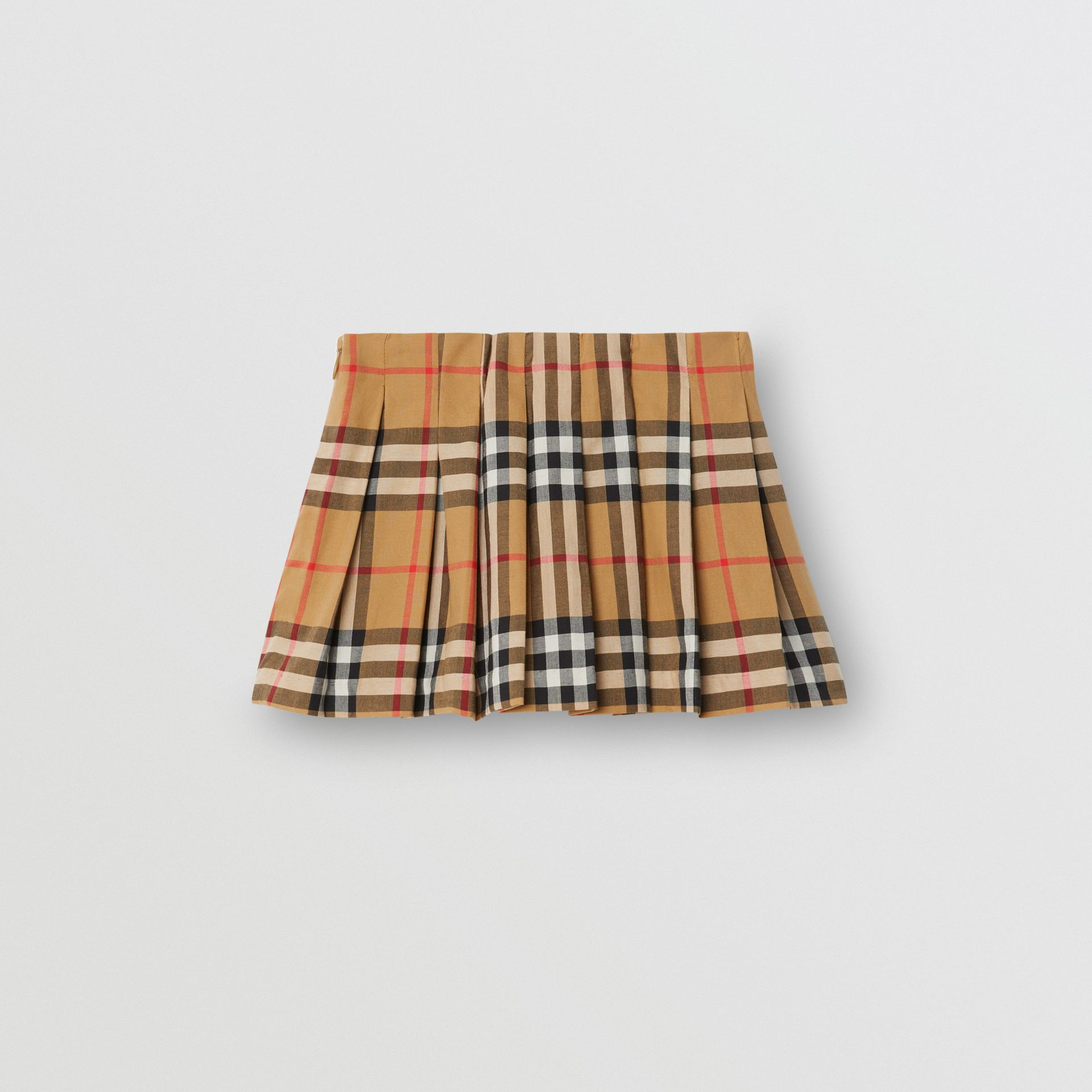 Vintage Check Pleated Skirt in Antique Yellow - Children | Burberry - gallery image 3