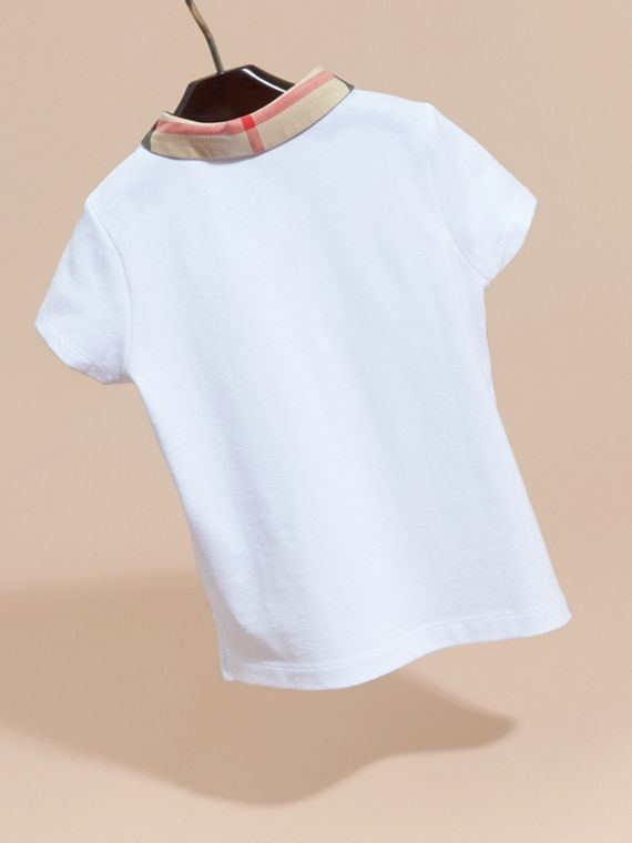 Check Collar Polo Shirt - Girl | Burberry - cell image 3