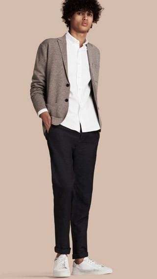 Giacca in maglia di lana e cashmere