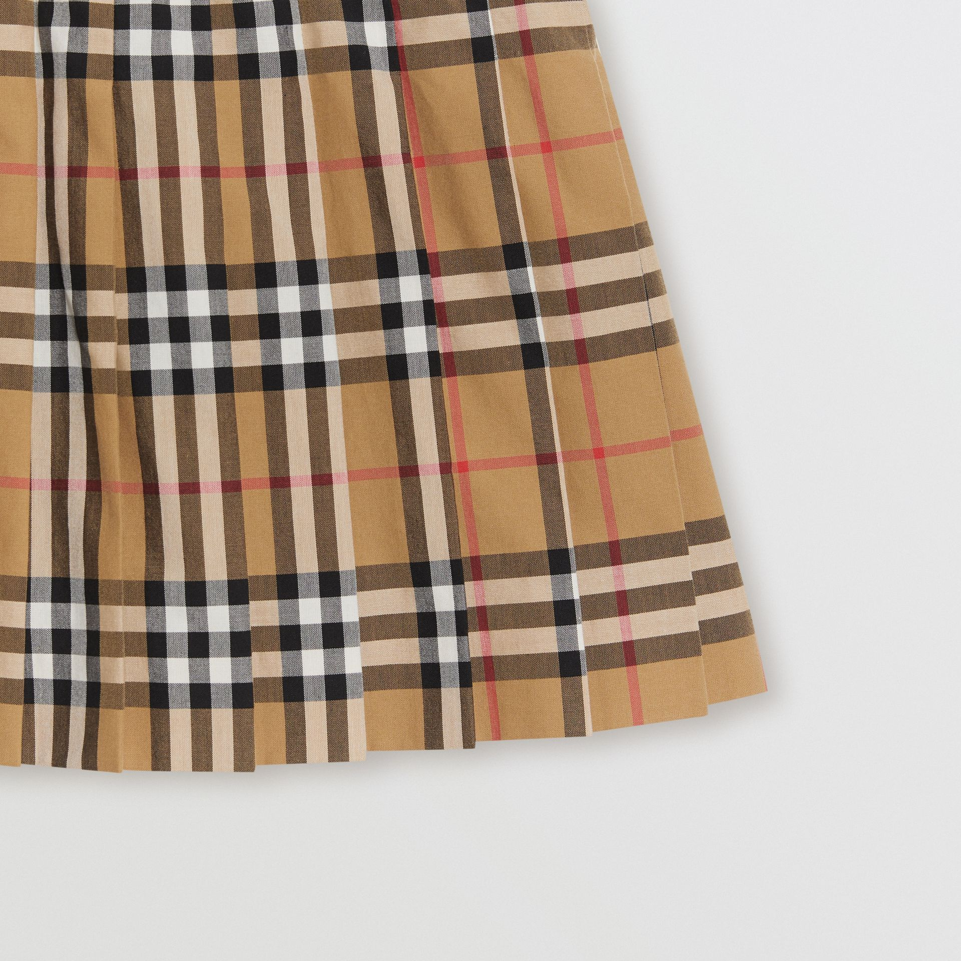 Vintage Check Pleated Skirt in Antique Yellow | Burberry United Kingdom - gallery image 4