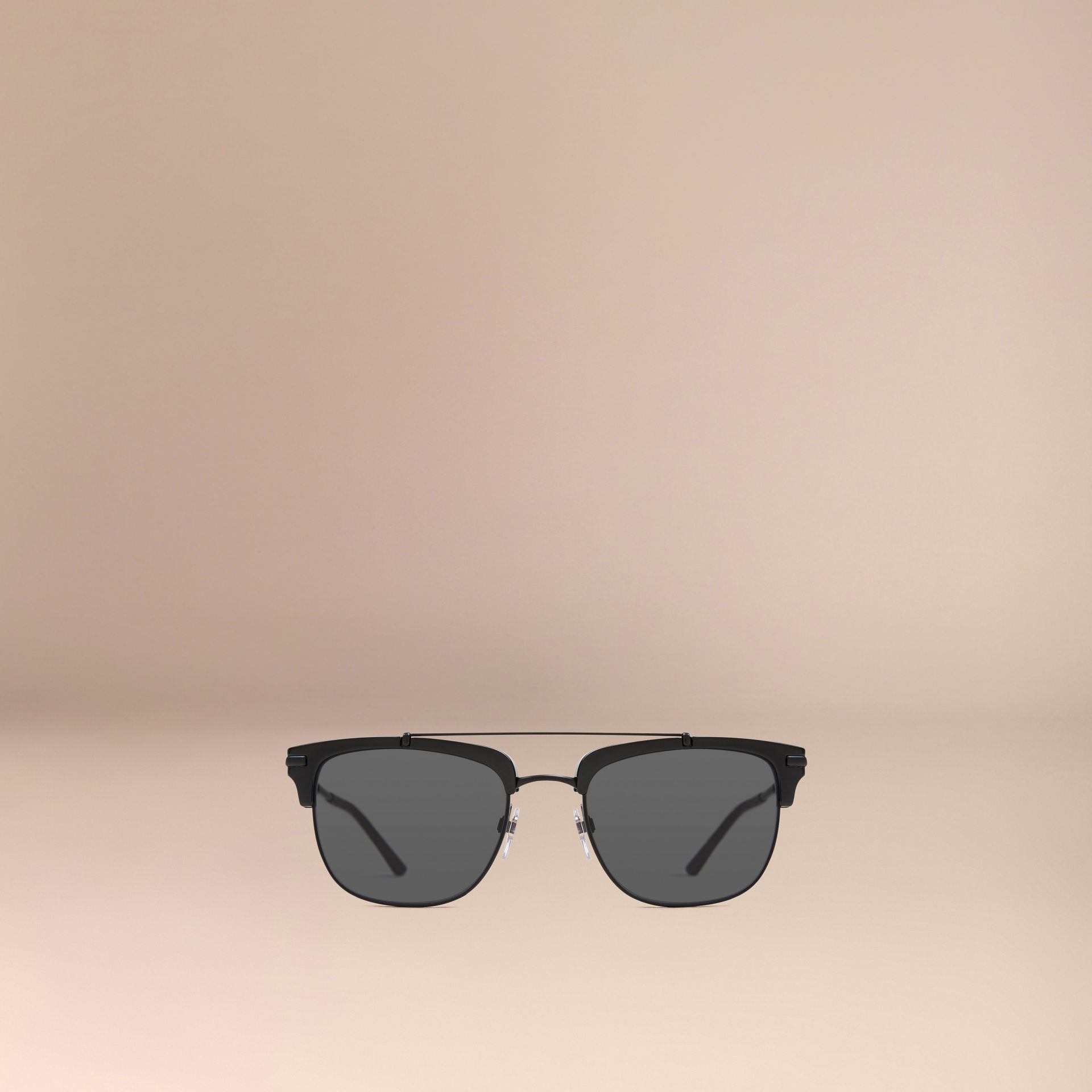Square Frame Sunglasses in Black - gallery image 2