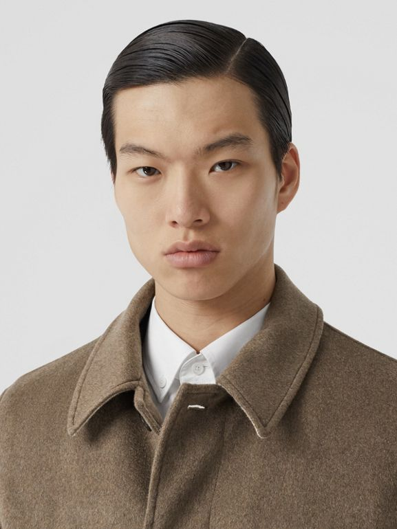 Cashmere Car Coat in Deep Taupe Melange - Men | Burberry - cell image 1
