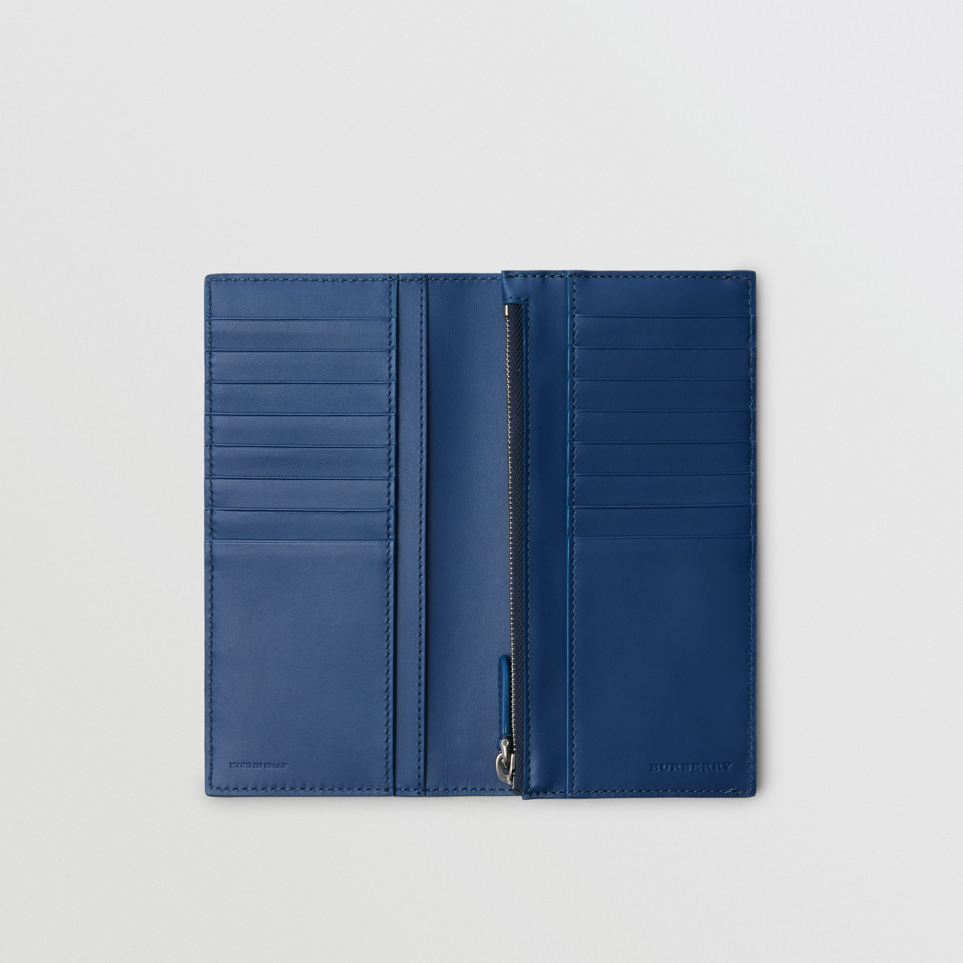 Grainy Leather Continental Wallet in Bright Ultramarine - Men | Burberry - gallery image 3
