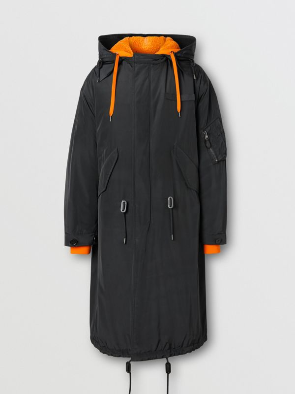 Nylon Silk Parka with Fleece-lined Detachable Warmer in Black - Men | Burberry Australia - cell image 3
