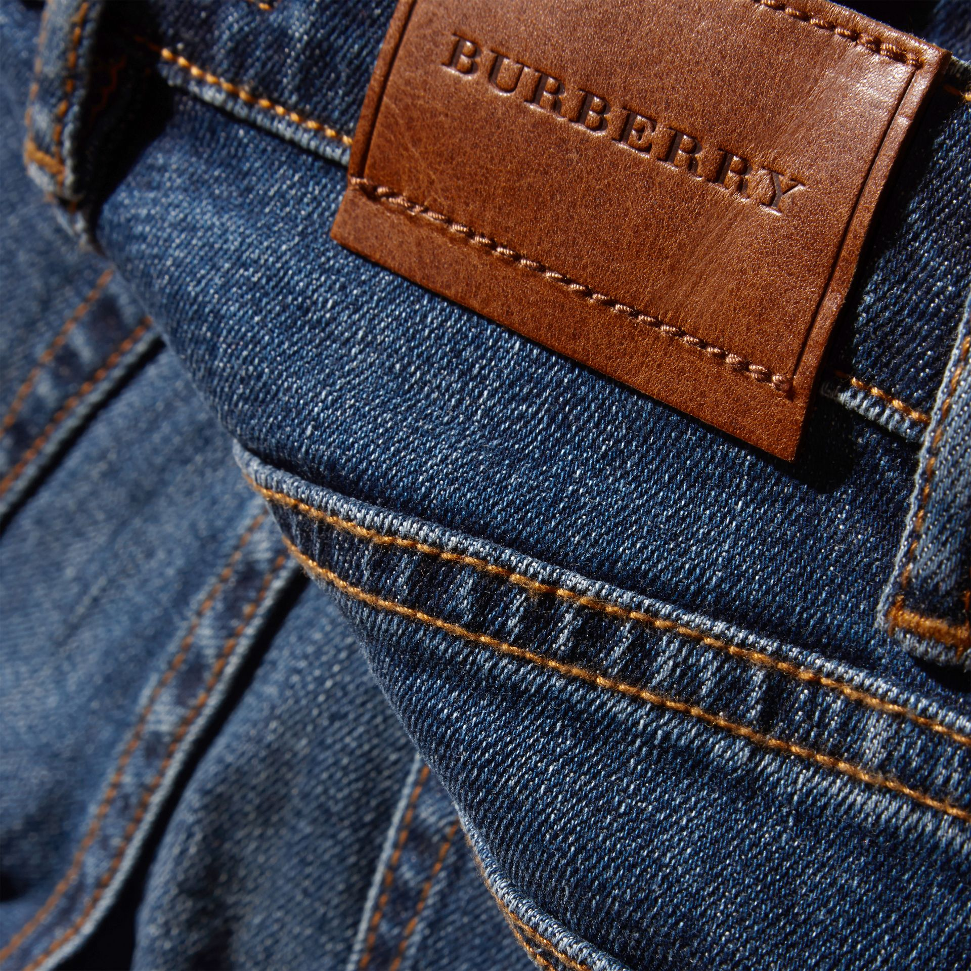 Relaxed Fit Japanese Stretch Denim Jeans - Boy | Burberry - gallery image 2