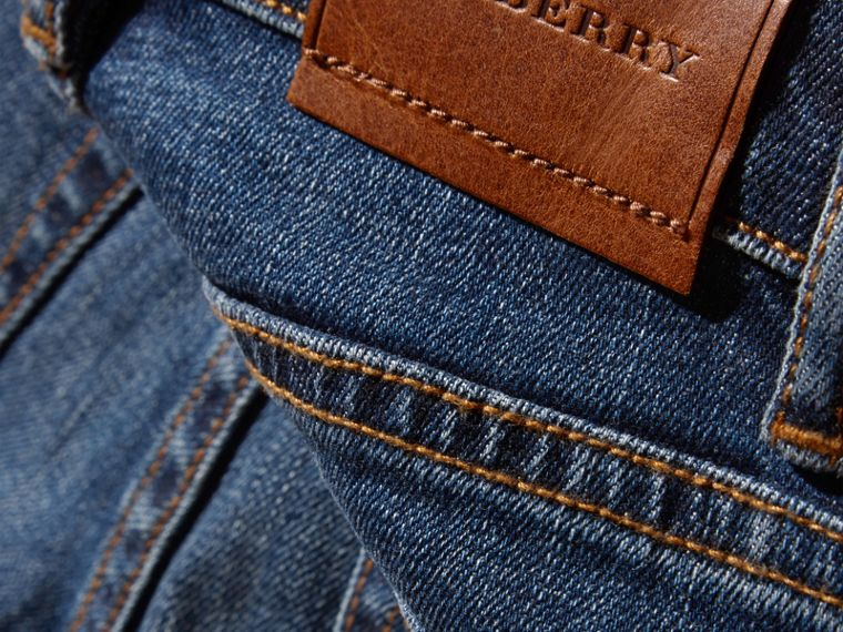 Relaxed Fit Japanese Stretch Denim Jeans - Boy | Burberry - cell image 1