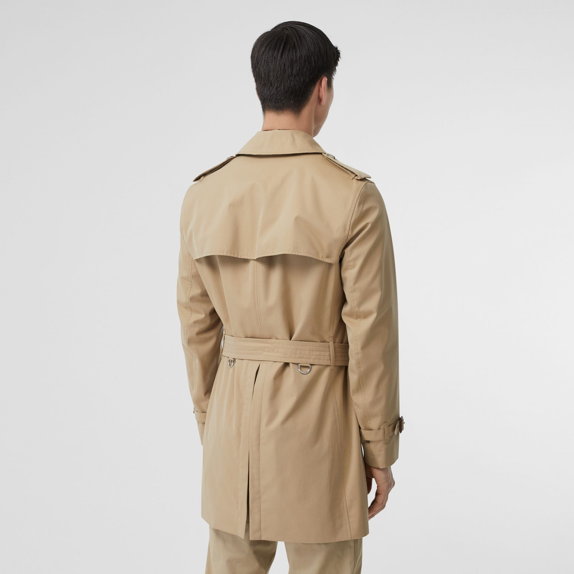Cotton Gabardine Trench Coat in Honey - Men | Burberry - gallery image 1