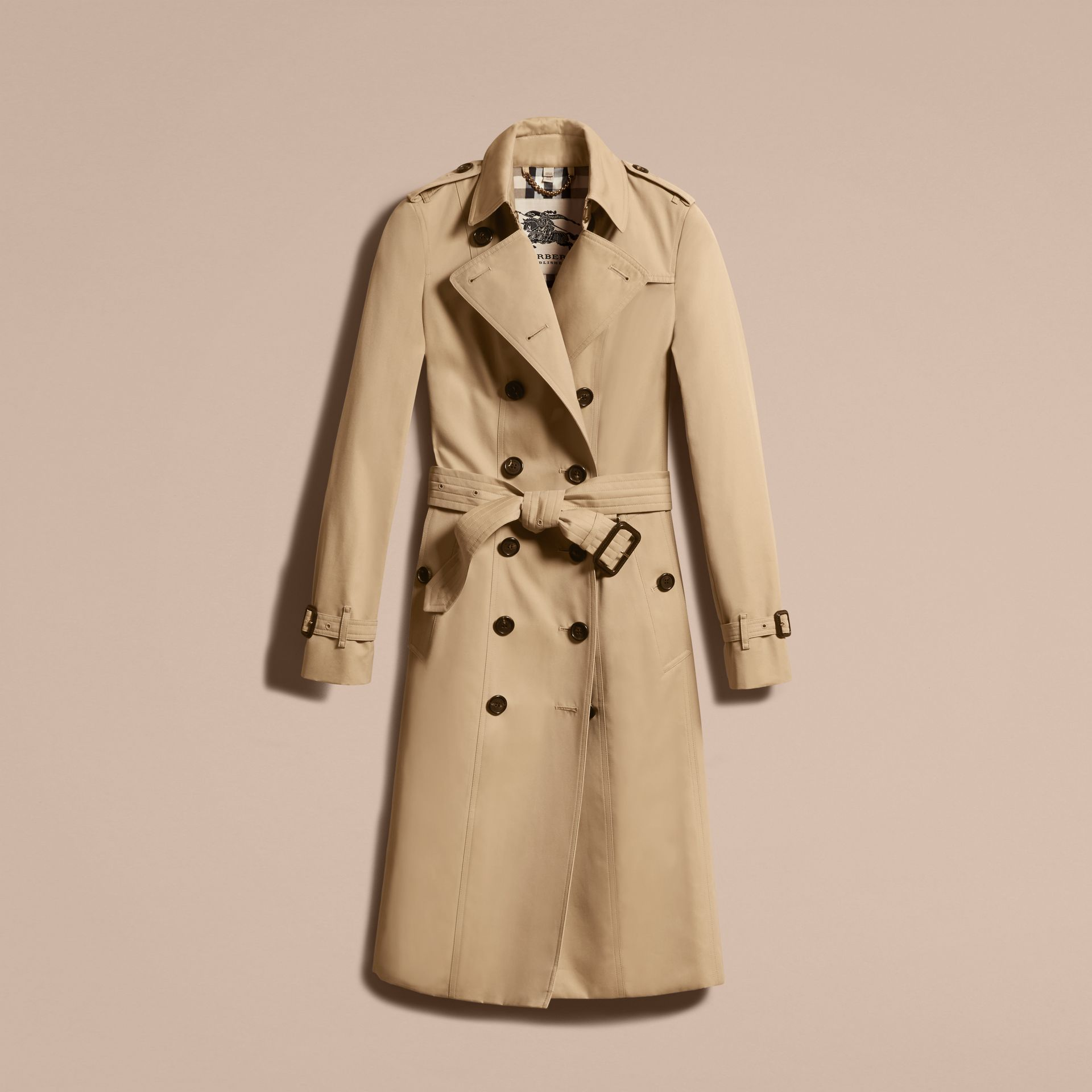 Honey The Sandringham – Extra-long Heritage Trench Coat Honey - gallery image 4