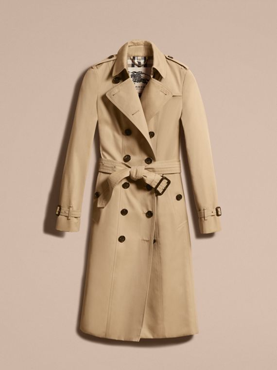 Honey The Sandringham – Extra-long Heritage Trench Coat Honey - cell image 3