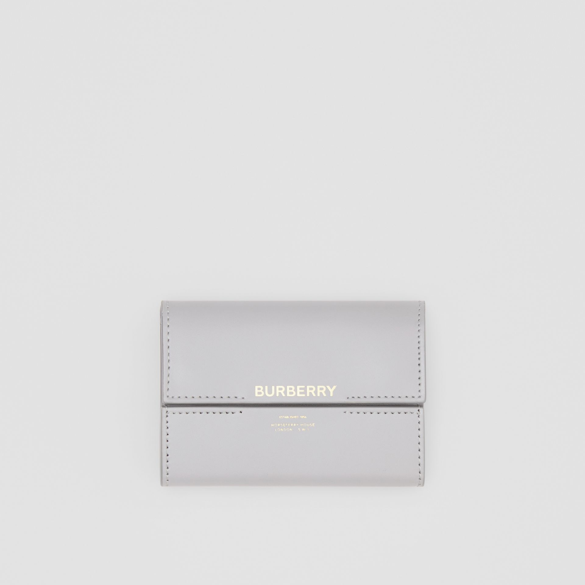 Horseferry Print Leather Folding Wallet in Heather Melange - Women | Burberry - gallery image 0