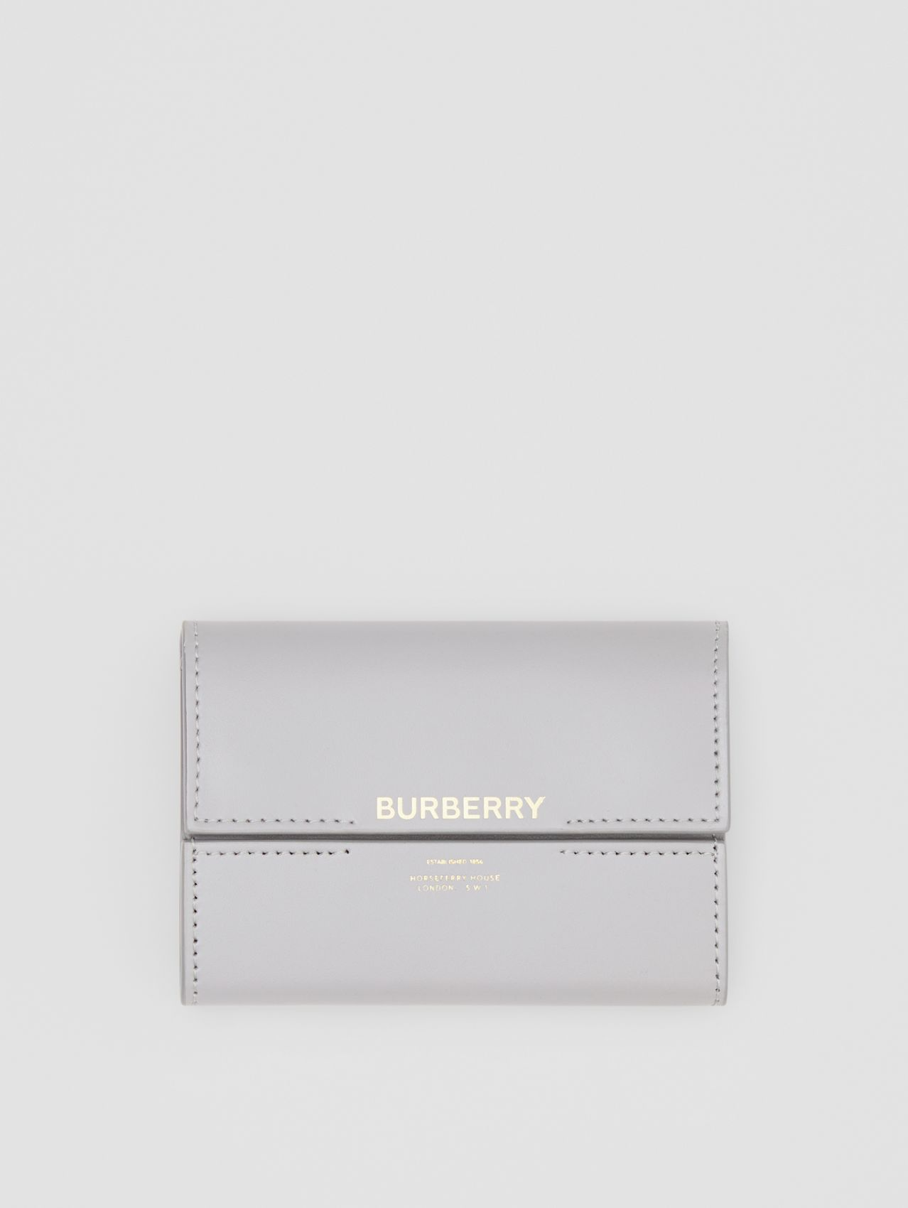 Horseferry Print Leather Folding Wallet in Heather Melange