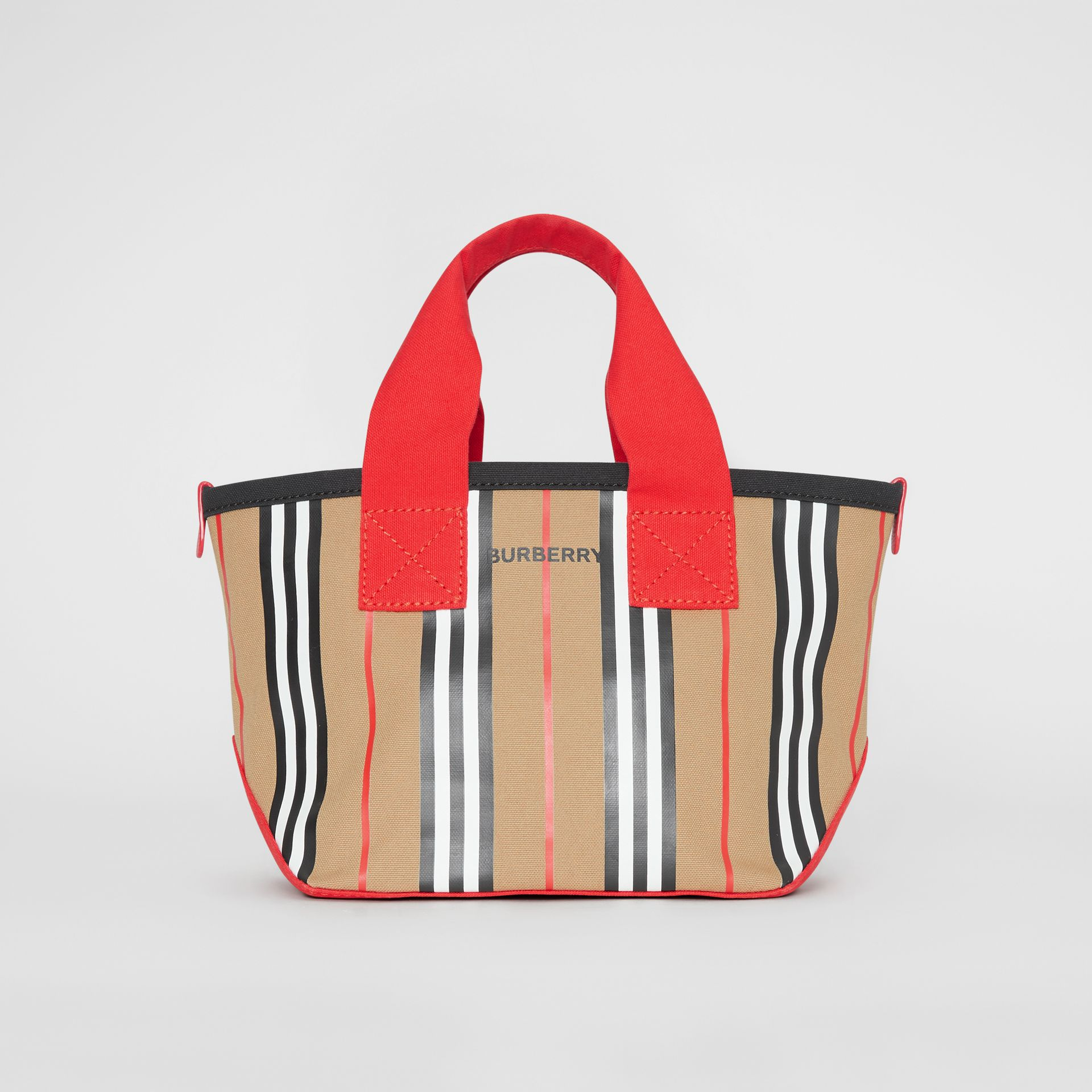 Icon Stripe Cotton Tote Bag in Honey - Children | Burberry - gallery image 0