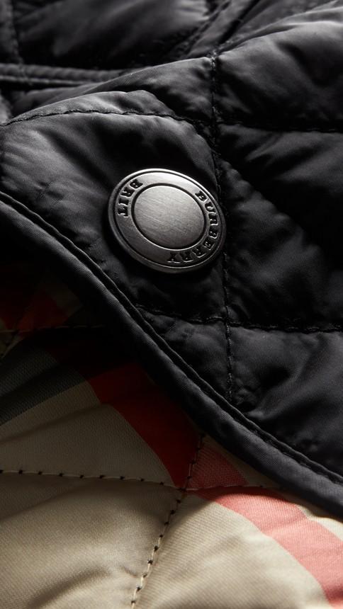 Black Diamond Quilted Jacket Black - Image 2