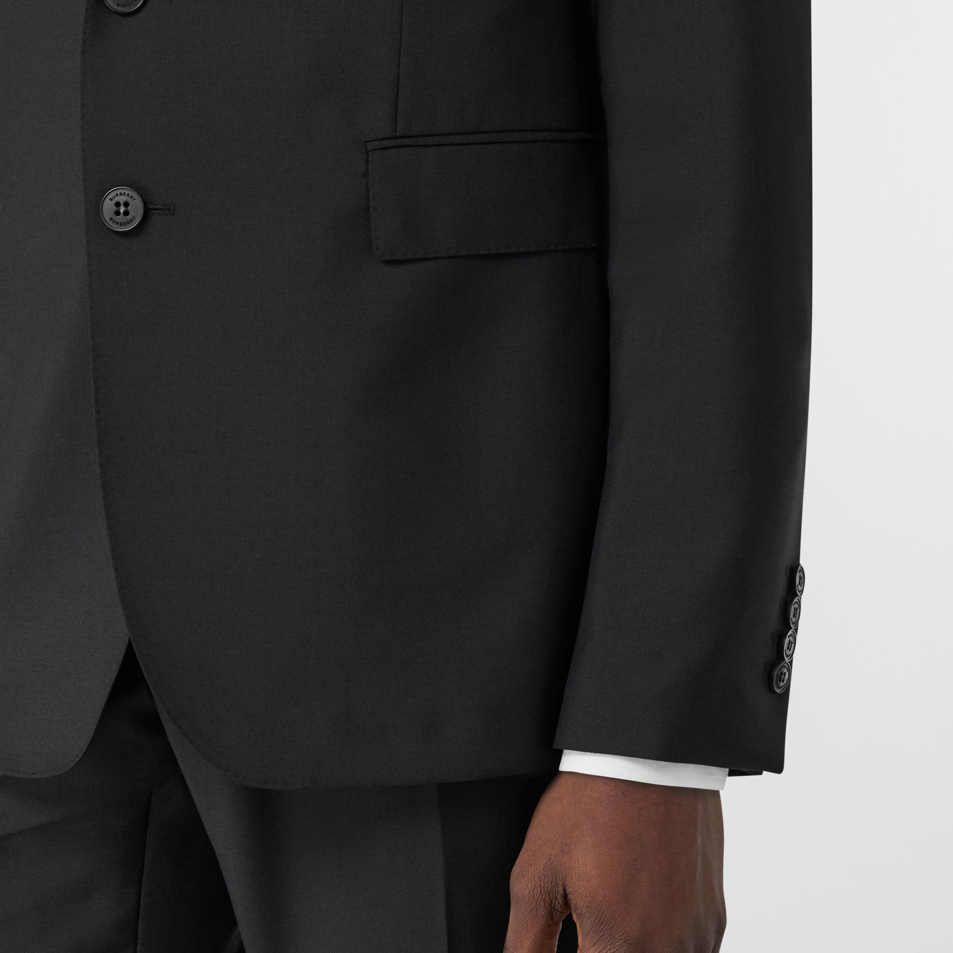 Slim Fit Wool Mohair Suit in Black - Men | Burberry Hong Kong S.A.R - gallery image 4