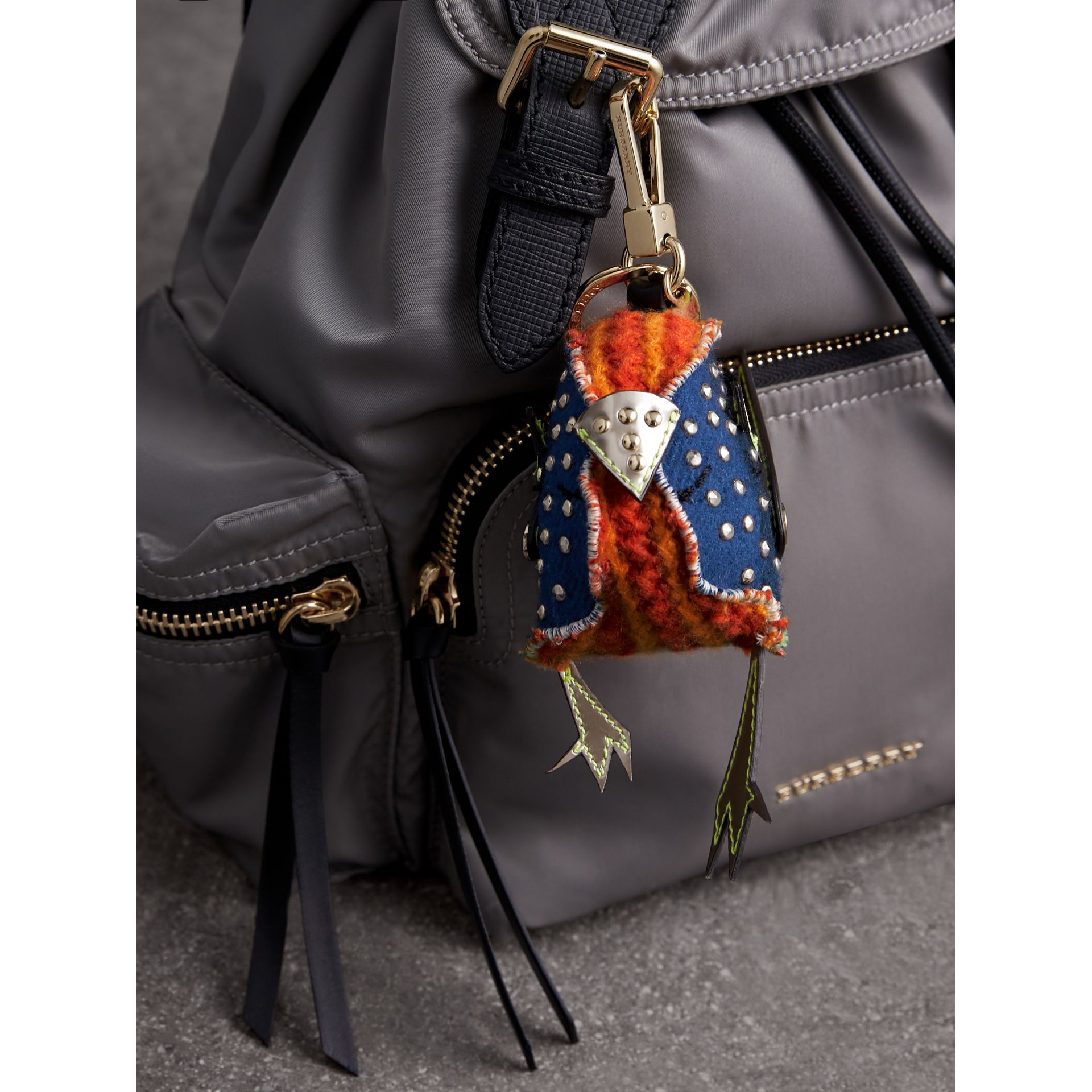 Derek The Bird Cashmere Charm in Clementine | Burberry - gallery image 2