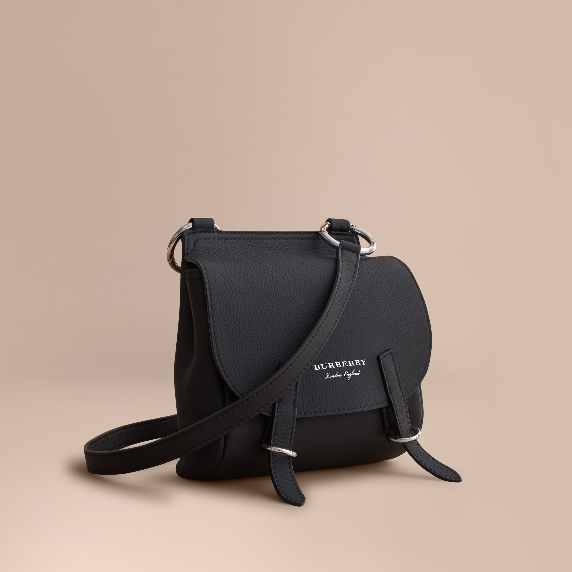 The Bridle Crossbody Bag in Deerskin in Black - Women | Burberry - gallery image 1