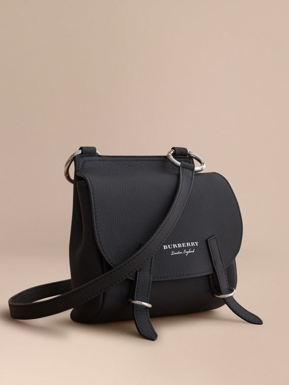 The Bridle Crossbody Bag in Deerskin in Black - Women | Burberry