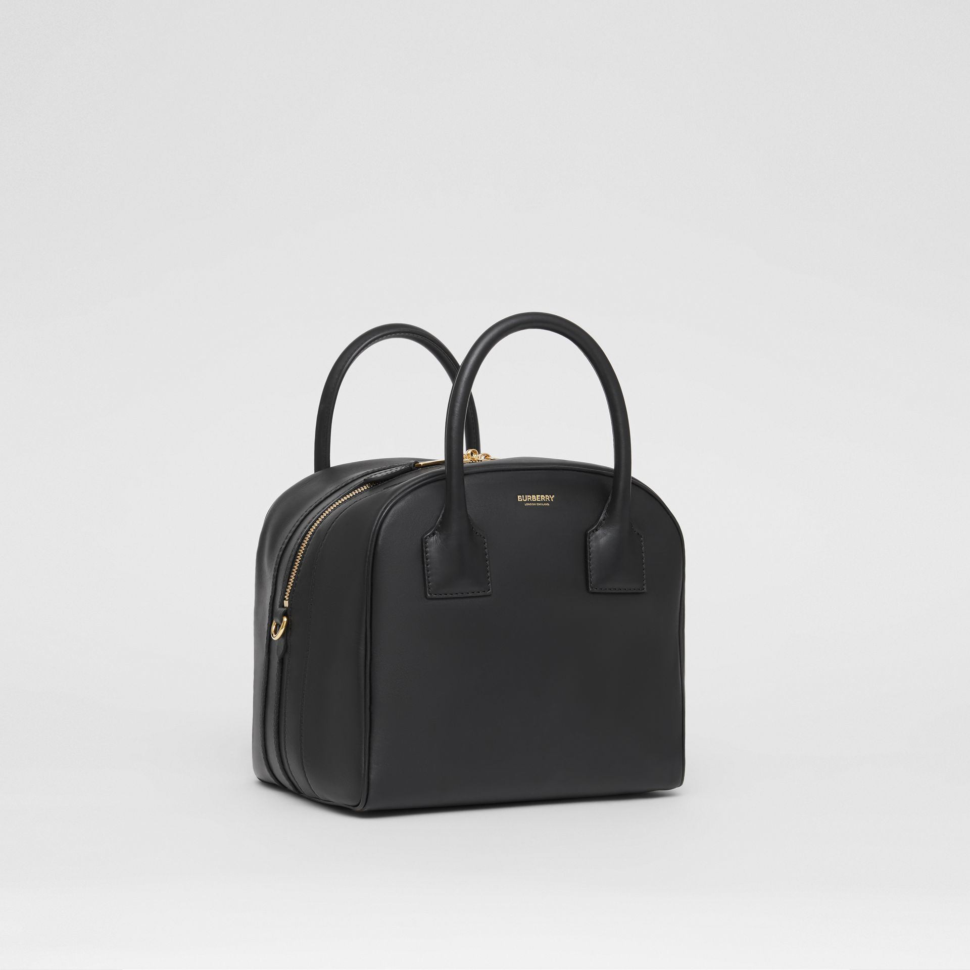 Small Leather Cube Bag in Black - Women | Burberry - gallery image 6