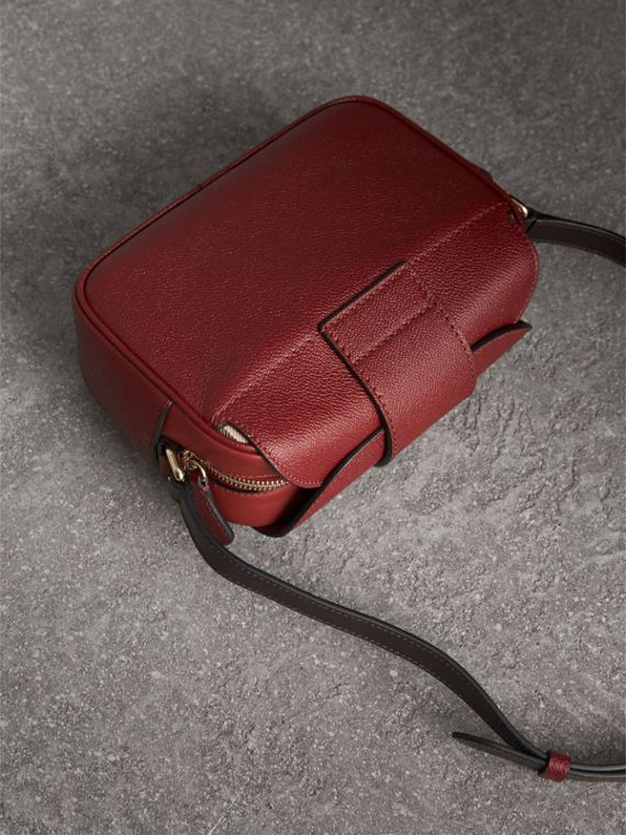 The Small Buckle Crossbody Bag in Two-tone Leather in Antique Red - Women | Burberry United States - cell image 3