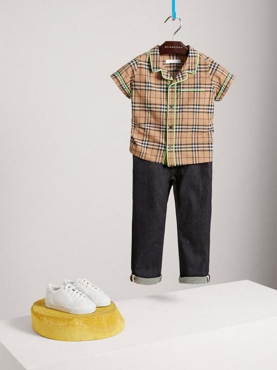 Jeans attillati stretch (Indaco Scuro)
