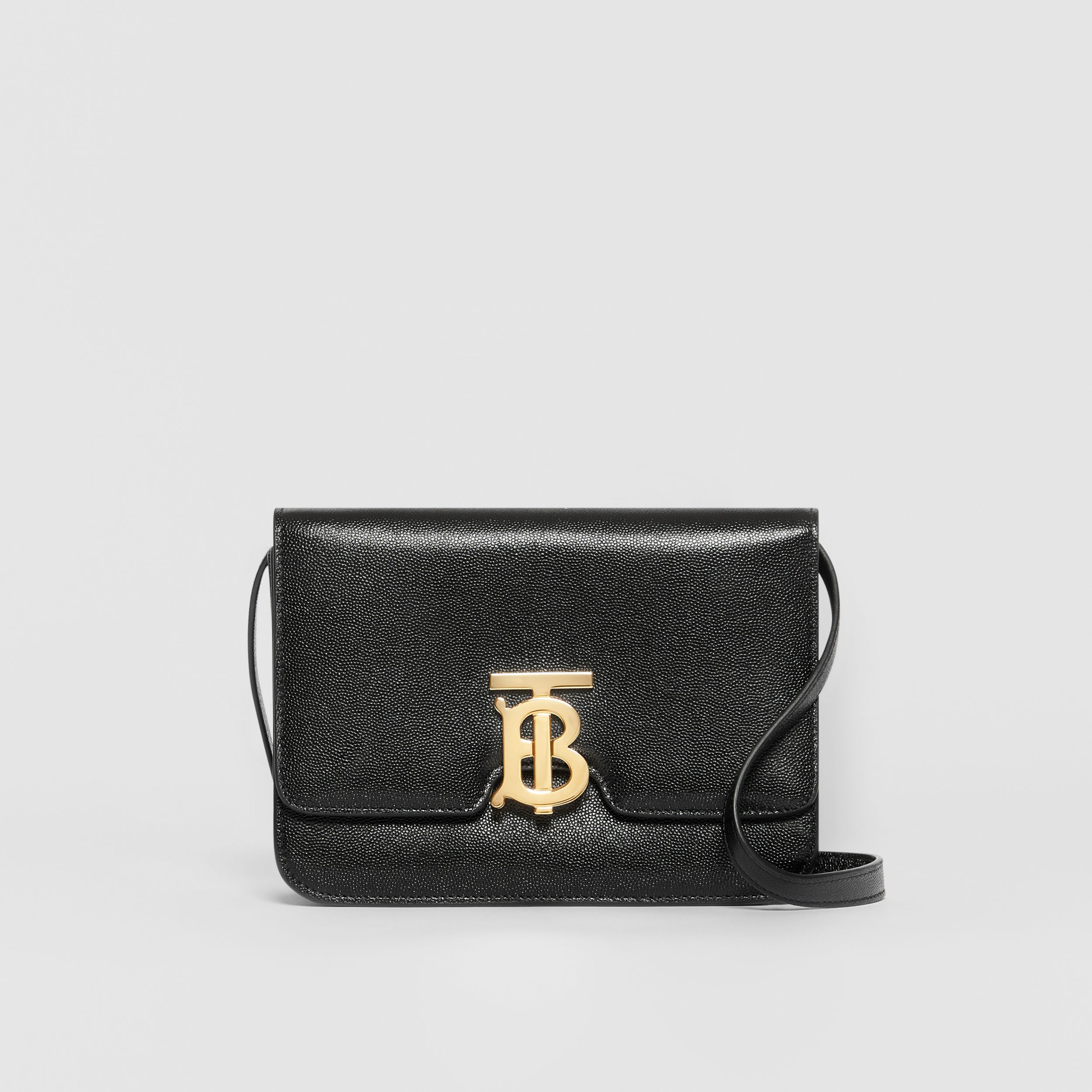 Small Grainy Leather TB Bag in Black | Burberry - 1