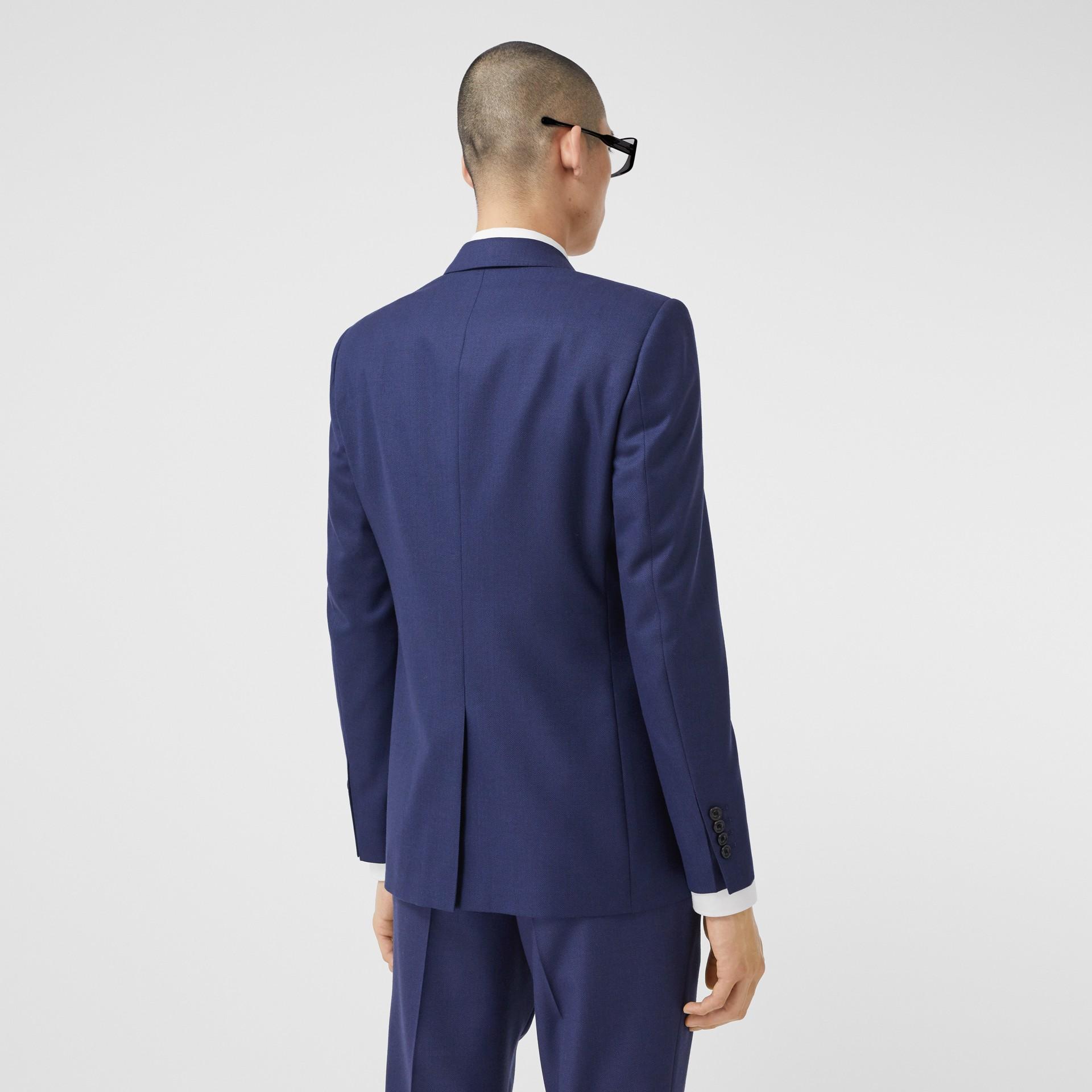 Классический пиджак из шерсти с узором «птичий глаз» (Насыщенный Темно-синий) - Для мужчин | Burberry - изображение 2