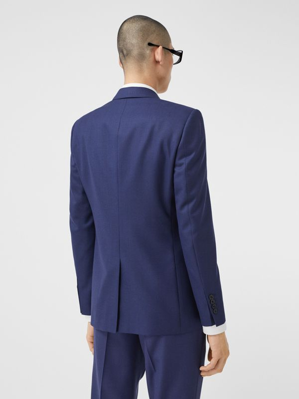 Classic Fit Birdseye Wool Tailored Jacket in Bright Navy - Men | Burberry United Kingdom - cell image 2