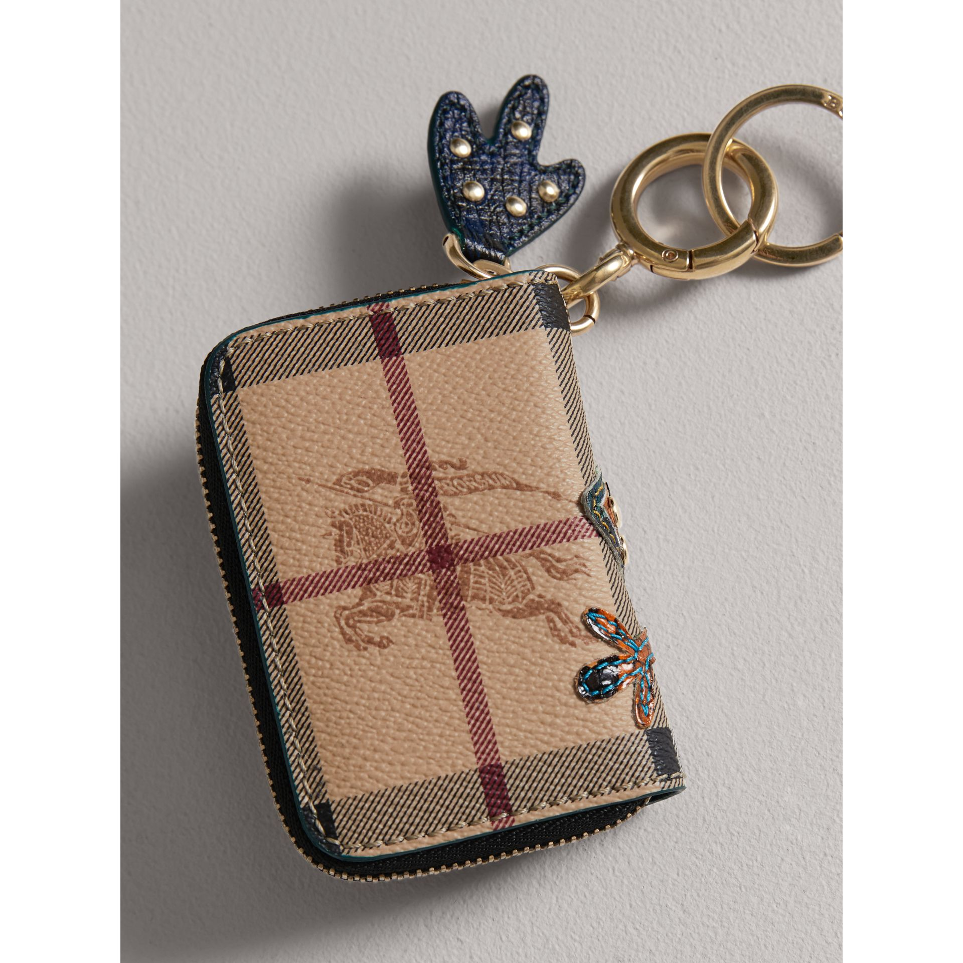 Creature Appliqué Haymarket Check Notebook Charm | Burberry - gallery image 3