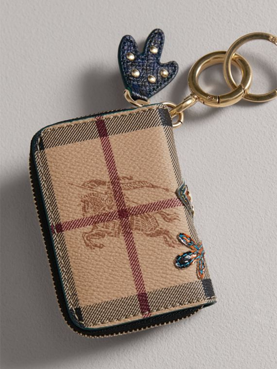 Creature Appliqué Haymarket Check Notebook Charm | Burberry - cell image 2