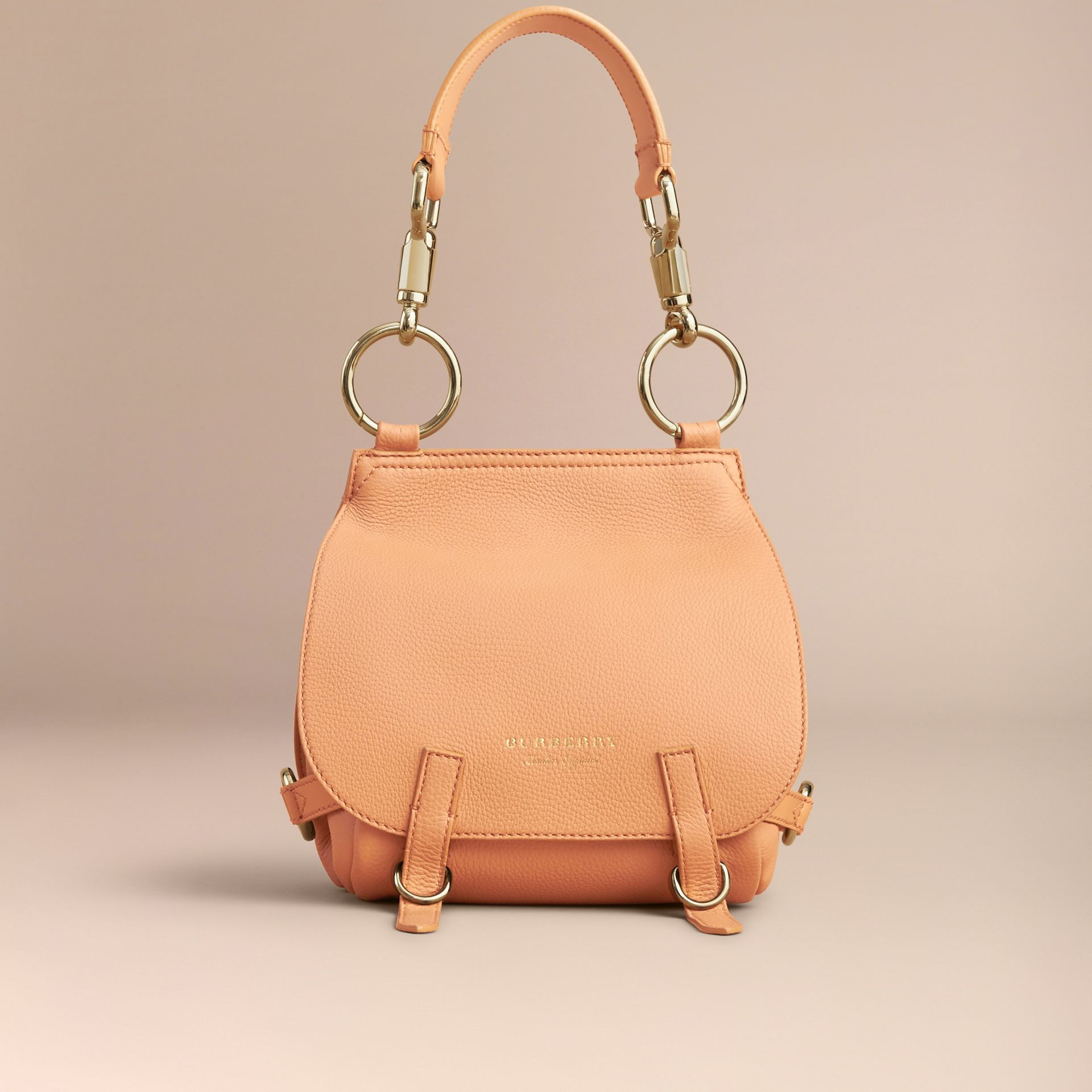 The Bridle Bag in Deerskin in Pale Clementine - Women | Burberry - gallery image 8