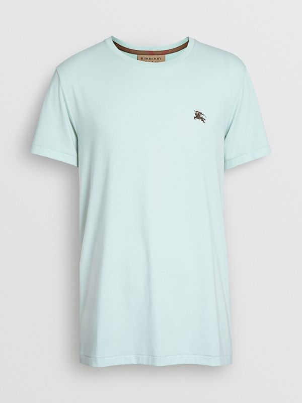 Cotton Jersey T-shirt in Pearl Blue - Men | Burberry - cell image 3