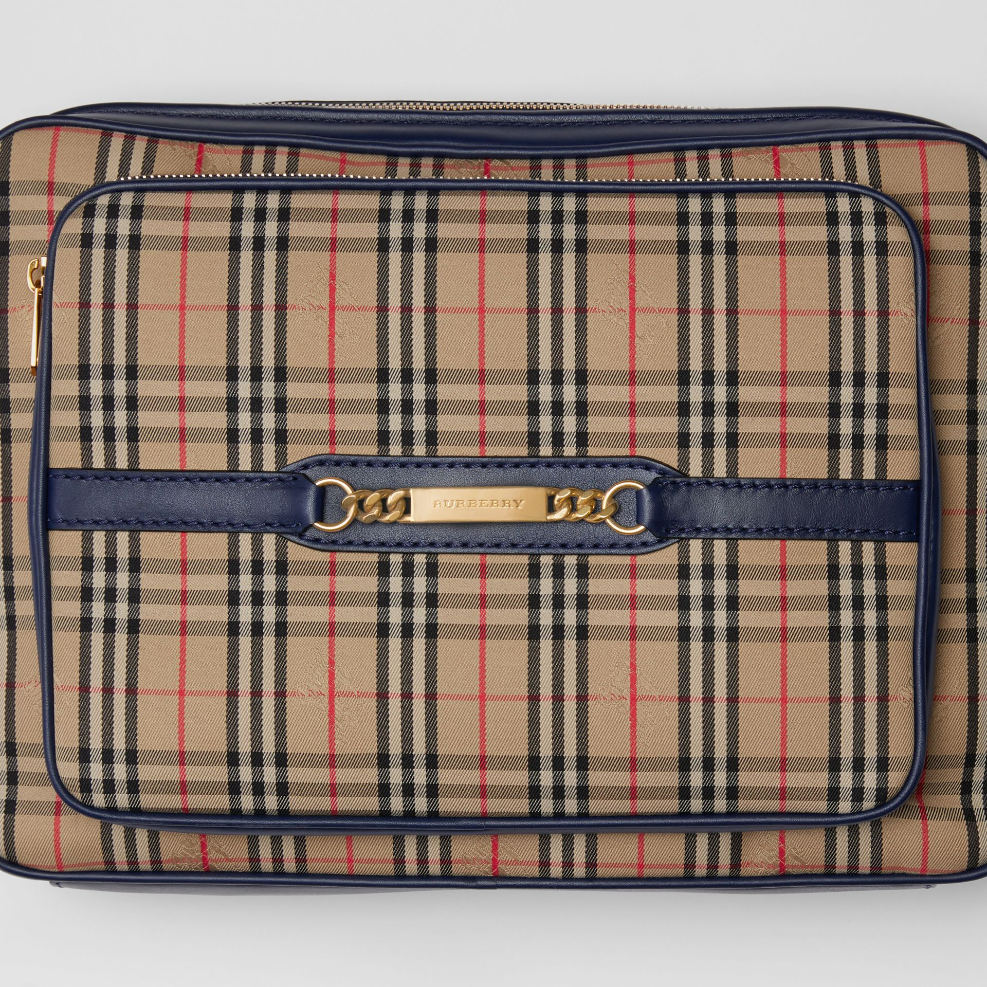 The Large 1983 Check Link Camera Bag in Ink Blue - Men | Burberry United Kingdom - gallery image 1