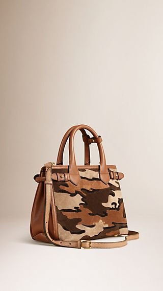 The Small Banner in Camouflage Suede