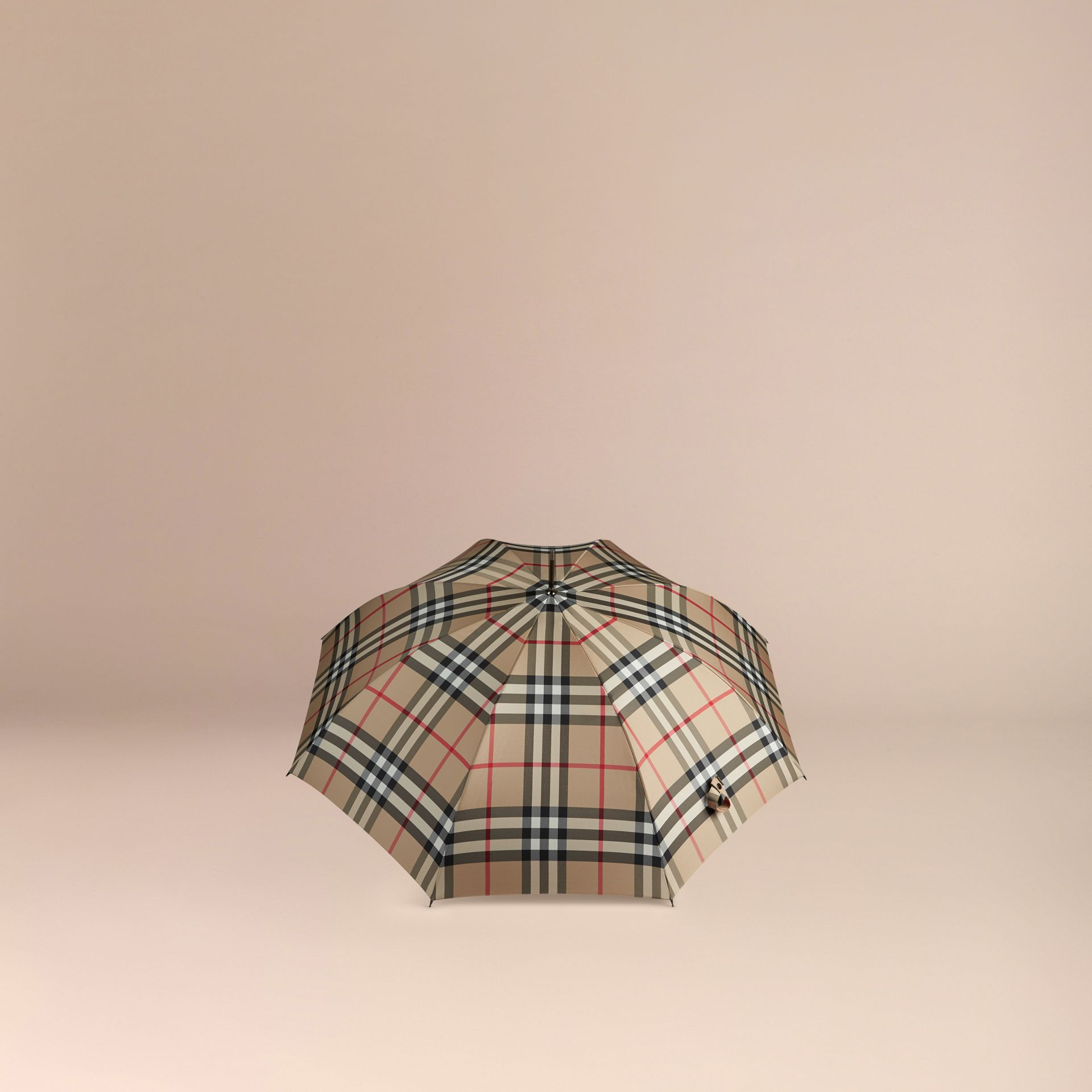 Giant Exploded Check Walking Umbrella in Camel | Burberry - gallery image 3