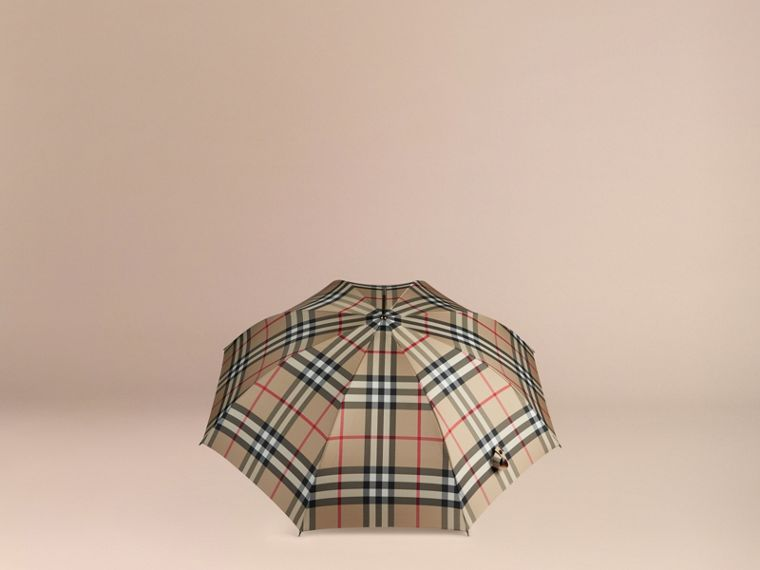 Giant Exploded Check Walking Umbrella in Camel | Burberry - cell image 2
