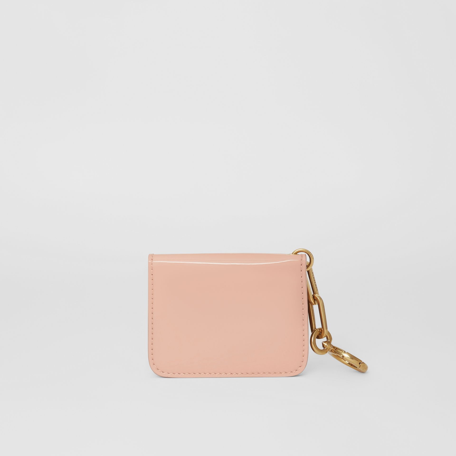 Link Detail Patent Leather ID Card Case Charm in Pale Fawn Pink - Women | Burberry United States - gallery image 2